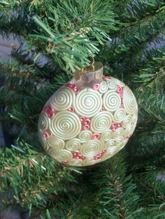 Polymer Clay Christmas Ornament by FlowertownOriginals on Etsy, $14.00