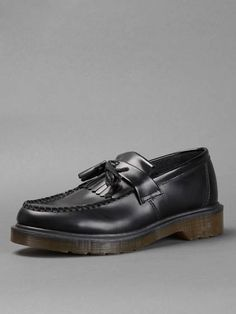 CULT CLASSIC: DR. MARTENS - ELZA goes braids w/ Dr Martens tassel loafers with rubber sole