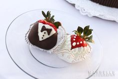 Maui's home grown strawberries decorated for the bride and groom