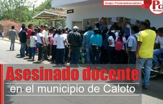 Joaquín Gómez Muñoz de 54 años de edad, era docente de una escuela indígena (Institución Educativa El Credo) en el resguardo Huellas del municipio de Caloto y miembro del Consejo Regional Indígena del Cauca (CRIC), quien fue asesinado en la noche del pasado martes, por desconocidos que se movilizaban en una motocicleta y que le dispararon en repetidas ocasiones. [http://www.proclamadelcauca.com/2014/09/asesinado-docente-en-el-municipio-de-caloto-norte-del-cauca.html]