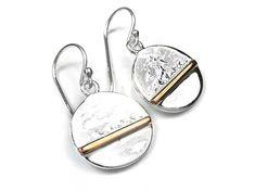 Silver Earrings - Horizon Sterling Silver Earrings, Plating, Pendant, Gold, Hang Tags, Pendants, Yellow