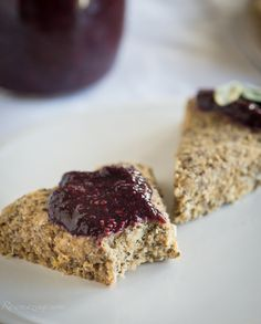 Raw Lemon Scones and Blackberry Sage Jam @Rawmazing.com