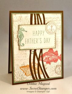 By the Tide, By the Seashore, Paper Pumpkin, Father's Day, Masculine, Stampin Up