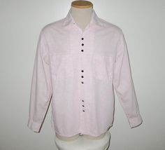 Vintage 1950s Pink & Black Shirt By Campus - Size M by SayItWithVintage on Etsy