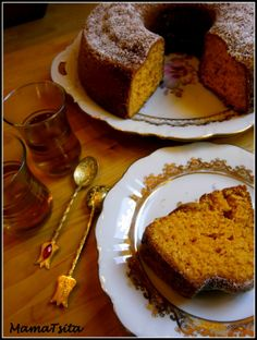 orange cake with tahini orange