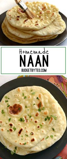 Soft, pillowy, homemade naan is easier to make than you think and it\'s great for sandwiches, pizza, dipping, and more. Step by step photos. - BudgetBytes.com