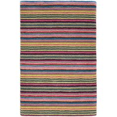 Dash and Albert Rugs Brindle Stripe Carnival Hand Knotted Area Rug | AllModern