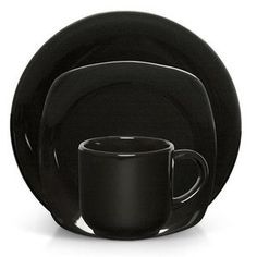 Gibson Sensations 16-Piece Dinnerware Set, Black  $25.00