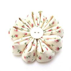 Fabric bows and flowers.