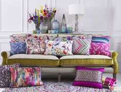 Voyage Maison craft beautiful designer fabrics, wallpapers and home accessories for your living room, kitchen, bedroom and bathroom. Sofa Design, Vintage Furniture, Home Furniture, Voyage Fabric, Interior Decorating, Interior Design, Room Planning, Affordable Furniture, Cushions On Sofa