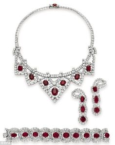 Miss Elizabeth Taylor's Cartier ruby and diamond suite