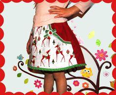 sweety reindeer skirt from krabbelkee collection by Feenland on DaWanda.com