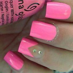 Nyxia China Glaze, Pink Nails, Pedicure, Hot Pink, Nail Polish, Nail Art, Beauty, Simple, Enamel