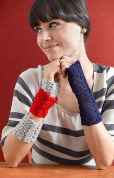 free wrist warmer crochet pattern
