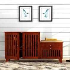 684fc75b062 Buy Lizbeth Shoe Cabinet (Honey Finish) Online in India - Wooden Street