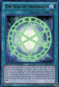 Yu-Gi-Oh! - The Seal of Orichalcos - Legendary Collection Yugi`s World - Limited Edition - Ultra Rare Yu Gi Oh, Resident Evil, Yugioh Decks, Yugioh Collection, You Monster, Summoning, The Magicians, Trading Cards, Spelling