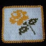 Örgü çiçekli lif #crochet #knit #knitting #örgü #washcloth