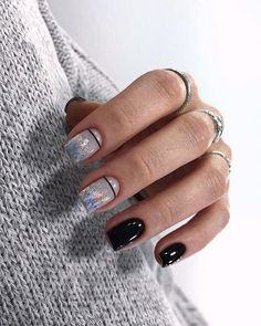 Nail art is a very popular trend these days and every woman you meet seems to have beautiful nails. It used to be that women would just go get a manicure or pedicure to get their nails trimmed and shaped with just a few coats of plain nail polish. Classy Nails, Trendy Nails, Simple Nails, Basic Nails, Nail Manicure, Nail Polish, Crome Nails, Classy Nail Designs, Grey Nail Designs