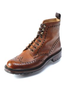 Cheaney Men's Tweed C Country Boots – Almond Grain… Punk Shoes, Mens Shoes Boots, Mens Boots Fashion, Jeans And Boots, Leather Boots, Men's Shoes, Shoe Boots, Country Boots, Tweed