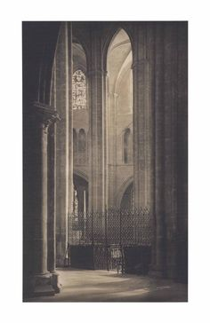 Frederick H. Evans , Height and Light in Bourges Cathedral, 1900 Cathedral Architecture, Gothic Architecture, Josef Sudek, Gothic Cathedral, Arch Interior, Alfred Stieglitz, Serenity, Shadows Fall, Photographers