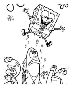 Jumping Spongebob Coloring Page From Sponge Bob Category Select 25694 Printable Crafts Of Cartoons