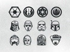 Star Wars Icon Set by Steven Schroeder - dribbble.com