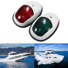 زوج الصمام ضوء الملاحة البحرية قارب يخت 12 فولت dc 10 واط القوس الجانب أضواء أضواء حمراء و greenmarine SL76624 طقس