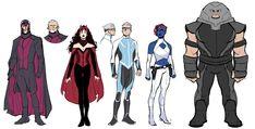 X-Men Redesigns - Lukas Werneck Comic Book Artists, Comic Books Art, Comic Artist, Marvel Comics Art, Marvel Heroes, X Men, Comic Character, Character Design, Comics Und Cartoons