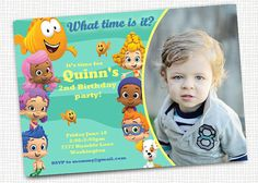 Hey, I found this really awesome Etsy listing at http://www.etsy.com/listing/107797289/bubble-guppies-photo-invitation-for-boy