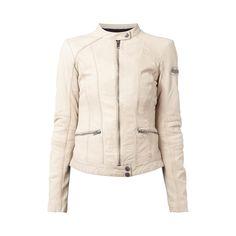 | #Tigha #Damen #Lederjacke aus #Schafsleder mit #Reißverschlusstaschen