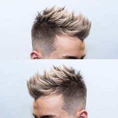 Can't get enough of the textured look. Plus the icy blonde color on top makes for a perfect finish. One of my favorite ways to style… Hairstyles Haircuts, Haircuts For Men, Trendy Hairstyles, Stylish Haircuts For Boys, Stylish Boys, Modern Haircuts, Popular Haircuts, Pixie Haircuts, Medium Hairstyles