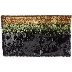 Pre-owned Prada Ombr? Sequin Clutch ($595) ❤ liked on Polyvore featuring bags, handbags, clutches, black, ombre purse, prada handbags, hand bags, sequined clutches and prada clutches