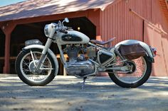 Enfield 350: the bike that time forgot.... BikeEXIF states the toolbox, fenders, and tank are original, all hardware replaced, and engine rebuilt with Royal Enfield parts.