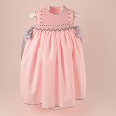 Soft pink and grey dress by Angelina ~ Southern Matriarch: A Little European Flair