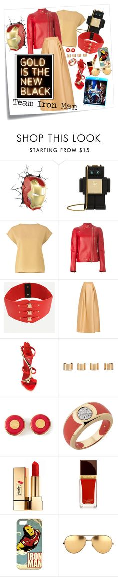 """""""Get the look: CA Civil War"""" by accidentaly-tragic ❤ liked on Polyvore featuring Post-It, MCM, Gyunel, Givenchy, Alberta Ferretti, Giuseppe Zanotti, Maison Margiela, Hermès, Yves Saint Laurent and Casetify"""