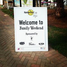 A welcome sign from the 2012 Family Circle Cup Family Weekend