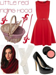 diy little red riding hood halloween costume