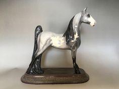Custom glazed by Deb Poole Tennessee Walking Horse, Horse Portrait, Brisbane Australia, Horses For Sale, Glazed Ceramic, Earthenware, Bone China, Pony, Porcelain