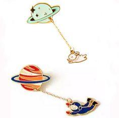 15元包邮 日系穿越星球宇航员兔子可爱甜美女领针徽章胸针L