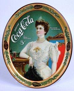 Coca-Cola Lady Tin Tray