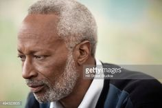 Close Up Of Black Mans Serious Face Stock Photo   Getty Images