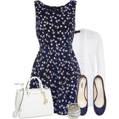 """""""Navy and White"""" by missie-may on Polyvore"""