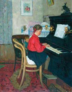Мазитов А.Н. Девочка за пианино