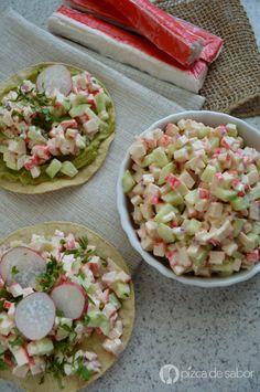 Ensalada de surimi www.pizcadesabor.com