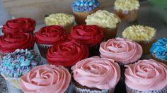 flowery cupcakes