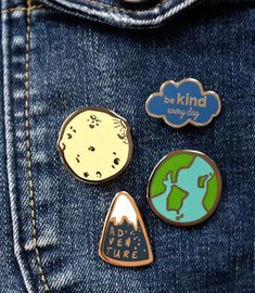 I Love You To The Moon And Back Enamel Pin Set by Auntie Mims, the perfect gift for Explore more unique gifts in our curated marketplace. Soft Grunge, Diy Pins, Button Badge, Cool Pins, Pin And Patches, Freundlich, Pin Badges, Little Gifts, Lapel Pins