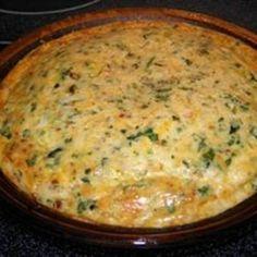 Crustless Cheese Quiche