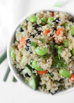 Quinoa Sushi Salad | http://thekitchenpaper.com/quinoa-sushi-salad/