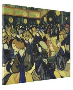 Dance Hall in Arles by Vincent Van Gogh #Stretched #Canvas #Prints. #VanGogh #Vincent #dance #hall #arles #art #painting #oilpainting #print #poster #dancing #dancers #dancehall
