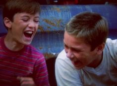 River Phoenix and Wil Wheaton in Stand By Me